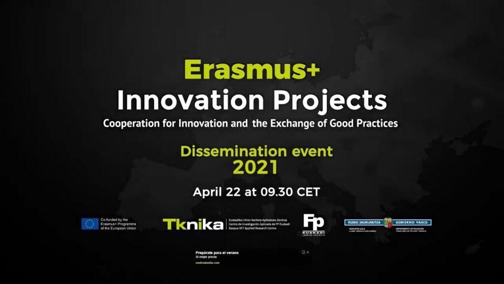 ERASMUS+ INNOVATION PROJECT. DISSEMINATION EVENT